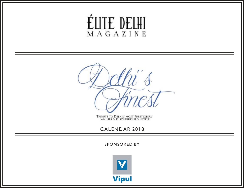 ELITE MAGAZINE DELHI\'S FINEST CALENDAR 2018