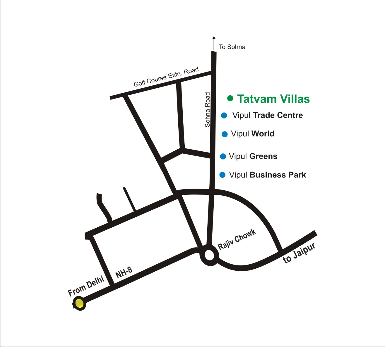 Location MapTatvam Villas