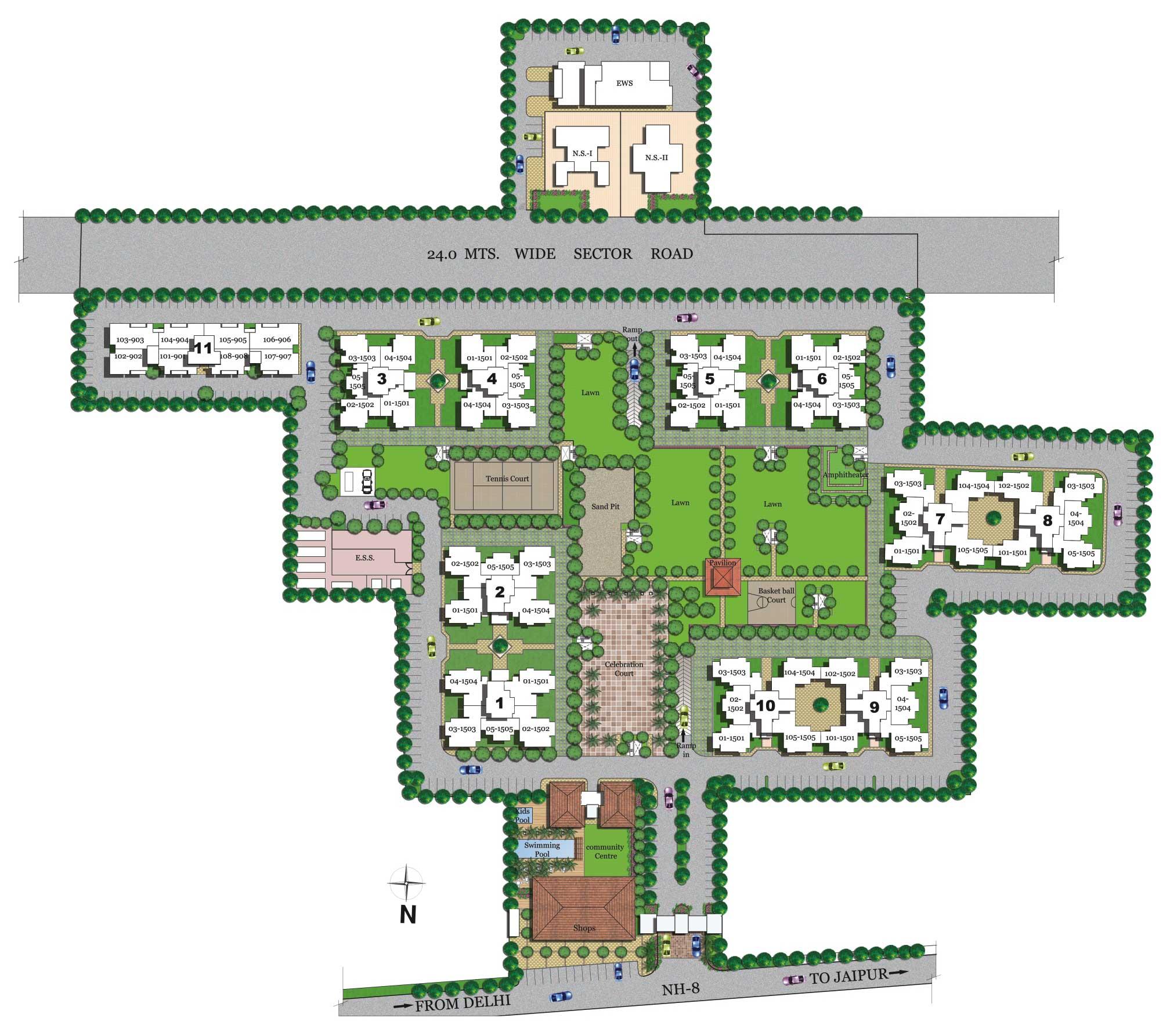 Site LayoutVipul Gardens
