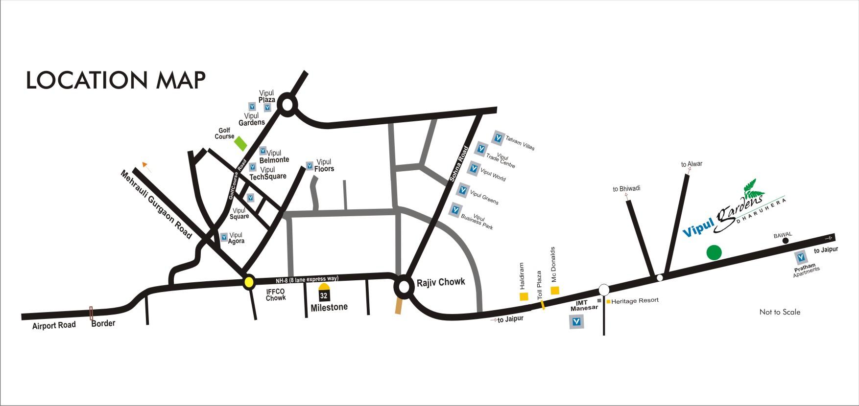 Location MapVipul Gardens
