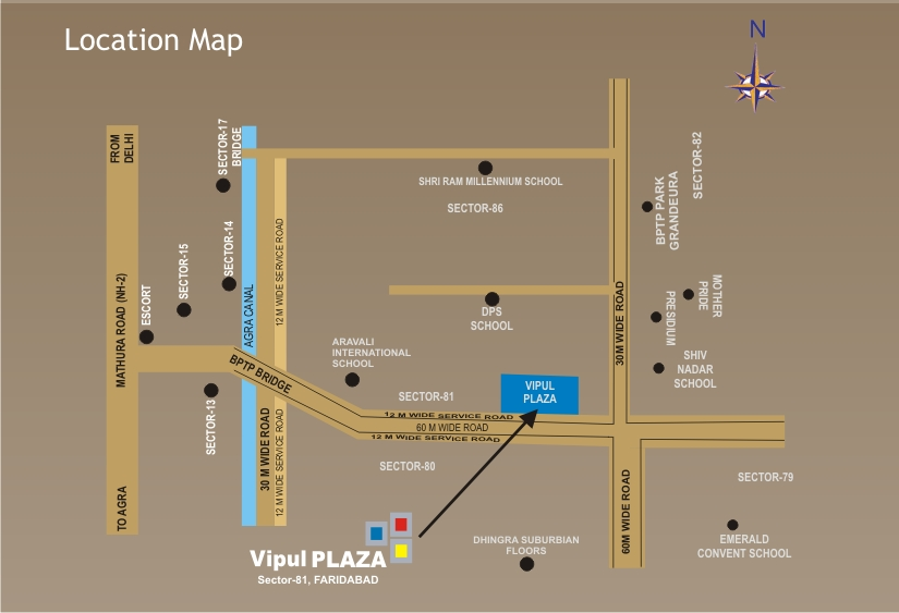 Location MapVipul Plaza